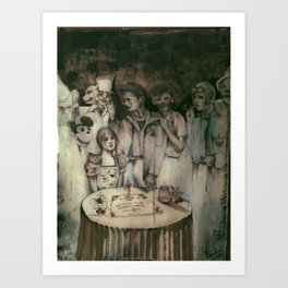 A Good Night For Ouija Art Print