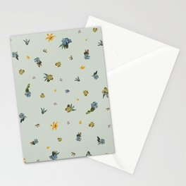 Green Statue Stationery Cards