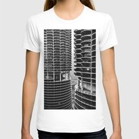 buildings T-shirts featuring Bertrand's Buildings by NickGerber