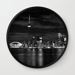 Toronto Skyline, Monocrome Wall Clock
