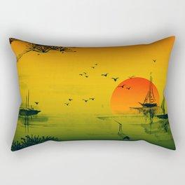 Japanese Sunset Rectangular Pillow