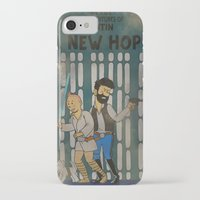 tintin iPhone & iPod Cases featuring rare tintin comic by space boy studios