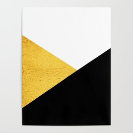 Gold & Black Geometry Poster
