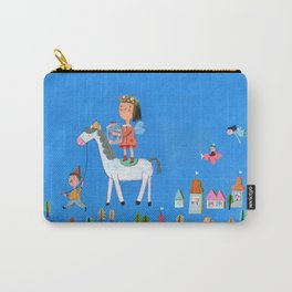 White Horse, Blue Sky Carry-All Pouch