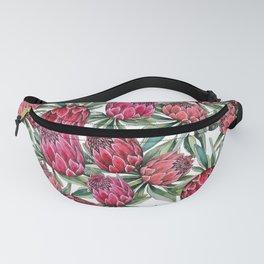Protea watercolor Fanny Pack
