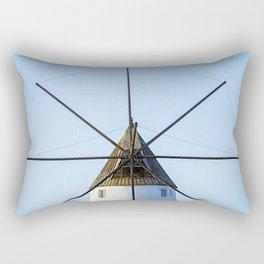 Windmill against blue sky Rectangular Pillow