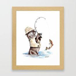 Natures Fisherman Framed Art Print