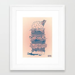 Mighty Burger Framed Art Print