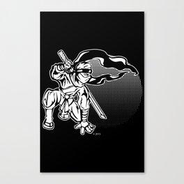 Ninja In The Sunset Canvas Print