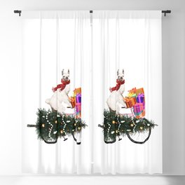 Llama Bringing Home Christmas Tree Blackout Curtain