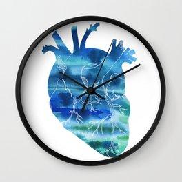 Oceanic Heart Wall Clock