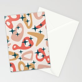Retro Mid Century Modern Abstract Composition 935 Stationery Cards