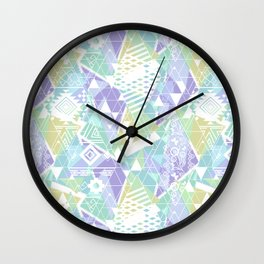 Abstract ethnic pattern in pastel colors. Wall Clock