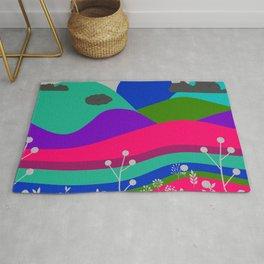 Jewel Tone Landscape Rug