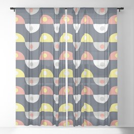 Retro pattern Sheer Curtain