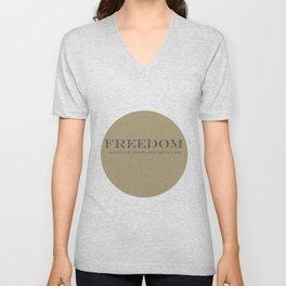 Freedom Unisex V-Neck