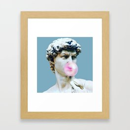 The Statue of David (Michelangelo) with Bubblegum Framed Art Print