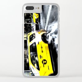 New York Taxis Art Clear iPhone Case