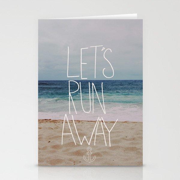 Let's Run Away: Sandy Beach, Hawaii Stationery Cards