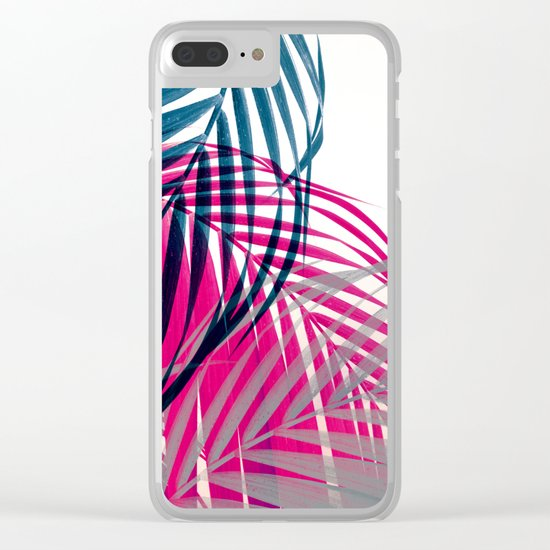 Trichromy Palms Clear iPhone Case