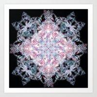 snowflake Art Prints featuring Snowflake. by Assiyam
