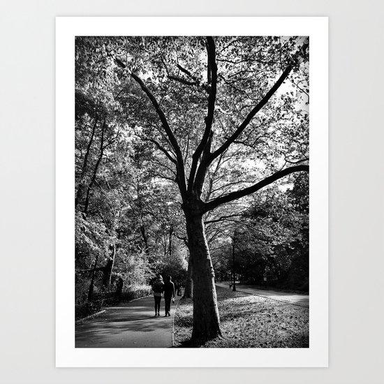 bw Central Park Art Print