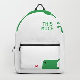 I Love this Much Broccoli Backpack
