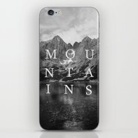 the mountains are calling iPhone & iPod Skins featuring The Mountains Are Calling by okalova