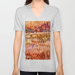 Earth Layers Abstract Unisex V-Neck