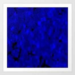 (50) Shades of blue Art Print