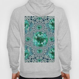 Emerald Gems May Birthstones Optical Pattern Hoody