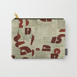 Absract Collage Carry-All Pouch