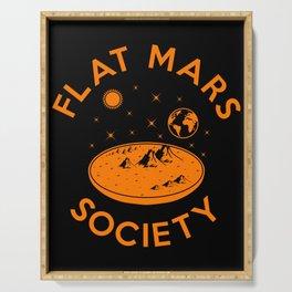Flat mars society Serving Tray