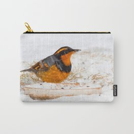 Varied Thrush in the Snow Carry-All Pouch