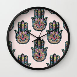 Indian hand illustration Wall Clock