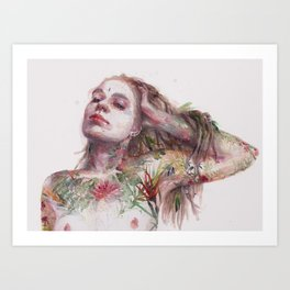 Leaves on Skin Art Print
