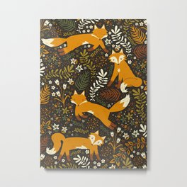 Fox Tales Metal Print