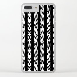 Tribal Black and White Tiger Stripe Pattern Clear iPhone Case