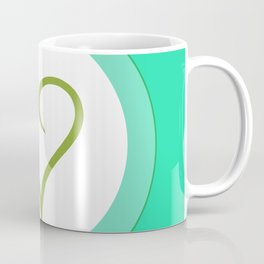 Green Heart with Love Coffee Mug