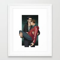 sterek Framed Art Prints featuring Sterek by callahaa