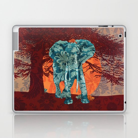 Indian summer with raccoons Laptop & iPad Skin
