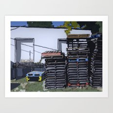Pallets Art Print