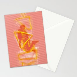 The Pyrotechnician Zacarias fire version (based on the story of Murilo Rubião) Stationery Cards