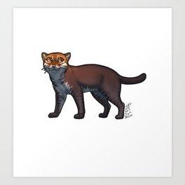 Flat-headed Cat Art Print