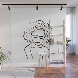 a girl in calm Wall Mural