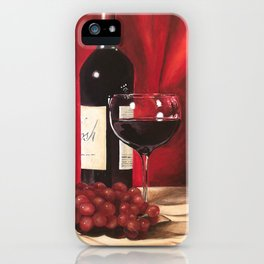 Red Wine, Still Life iPhone Case