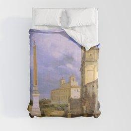 François Marius Granet - La Trinite-des-Monts et la villa Medicis, a Rome - François Marius Granet - Comforters