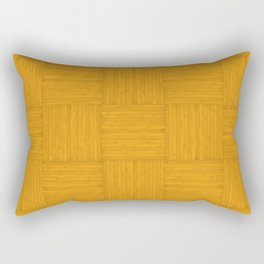Orange Faux Bois Wood Pattern Rectangular Pillow