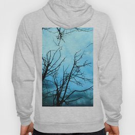 Aqua Skies Tree and Stars A163 Hoody