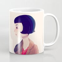 amelie Mugs featuring Amelie by Nan Lawson